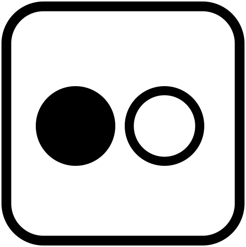 flickr icon black