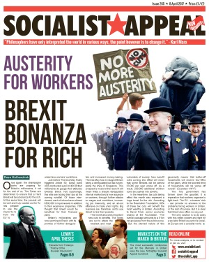 Socialist Appeal Issue 265 Page 01