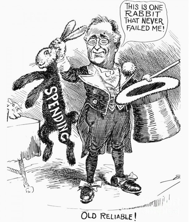 Government spending FDR rabbit hat