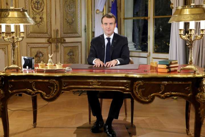 Macron: stripped of his liberal halo