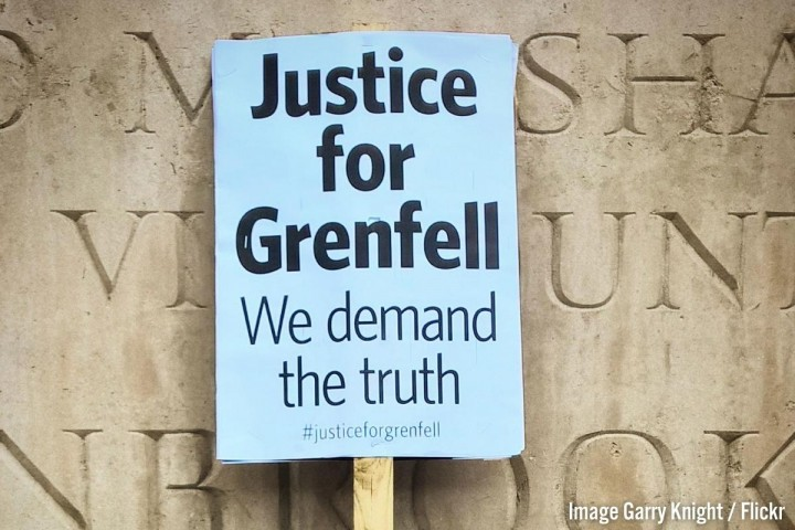 Grenfell Justice Placard
