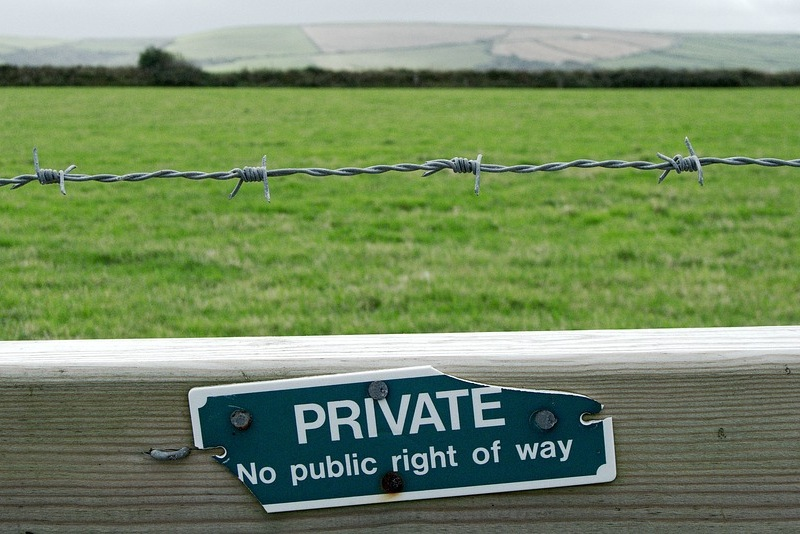 Private land UK