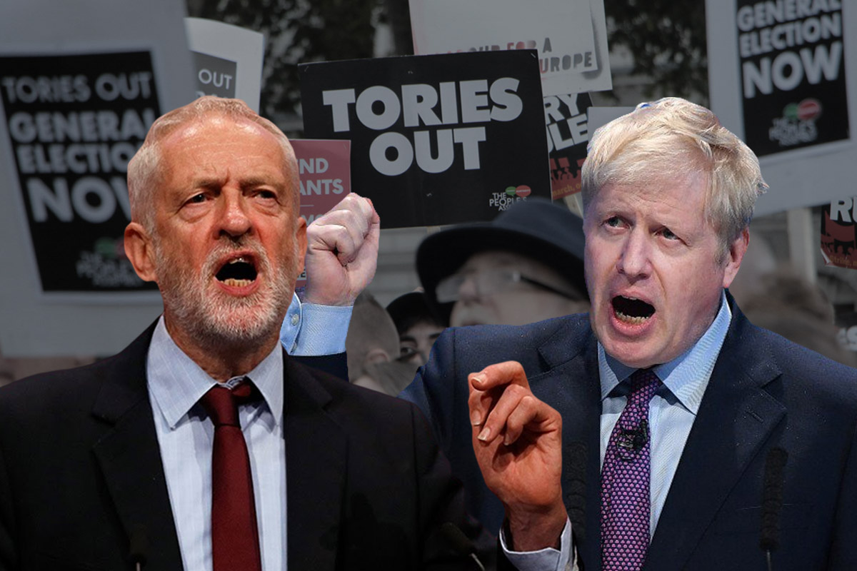 Corbyn Boris Tories Out