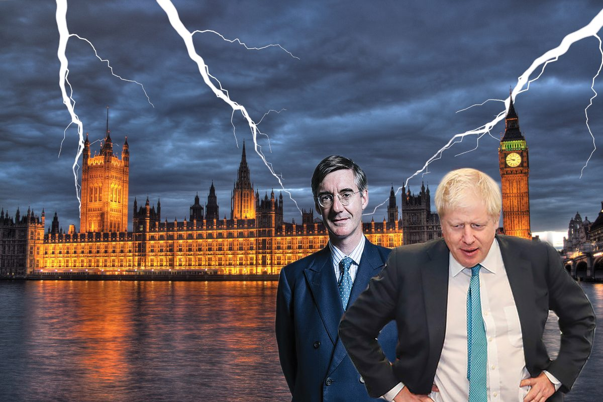 Johnson Ress Mogg parliament storm