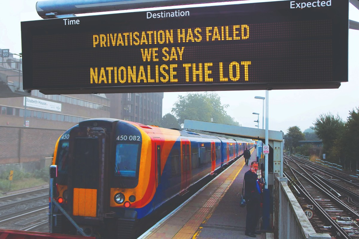 Nationalisation privatisation railways