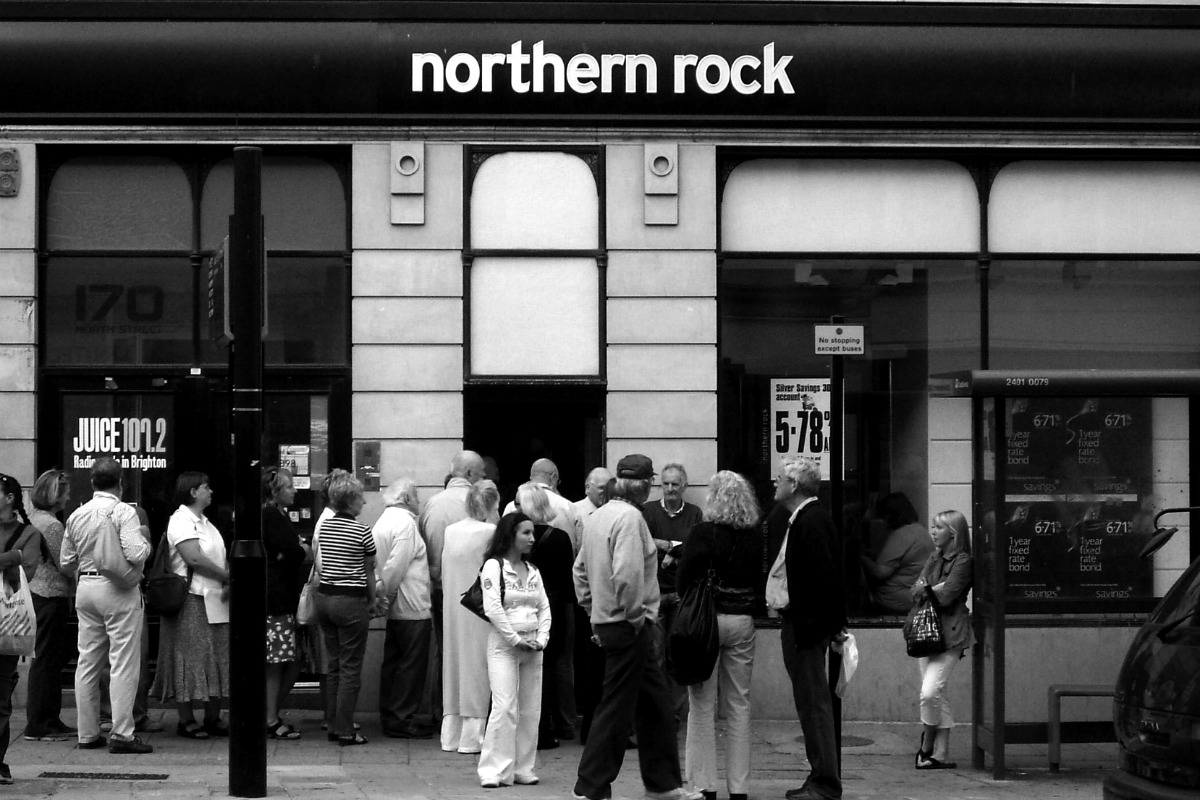 Northern Rock bank run 2007