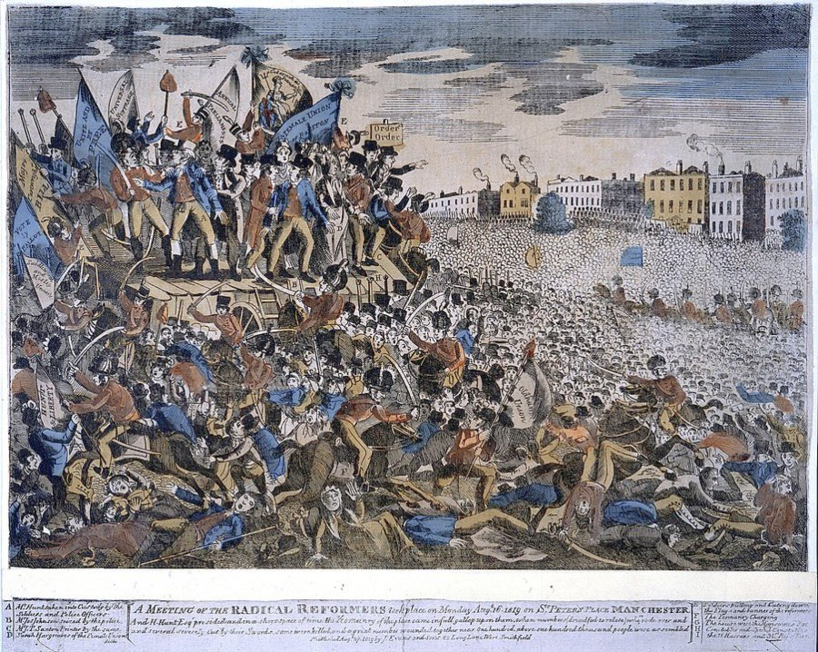 Peterloo massacre Manchester