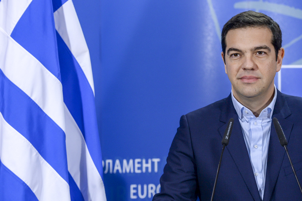 Tsipras Greek flag