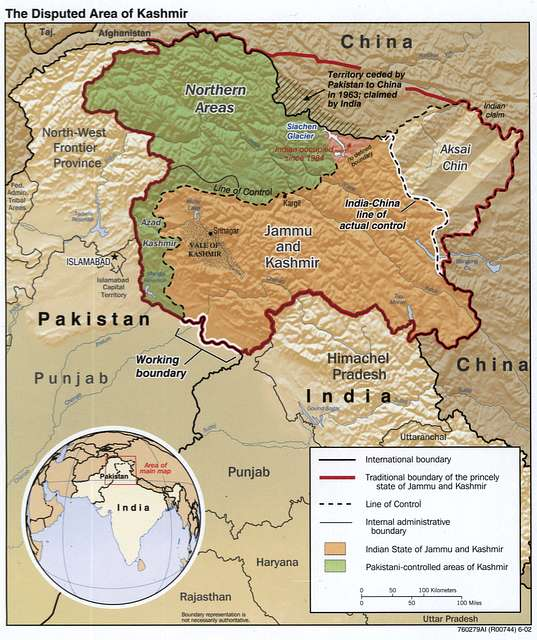 the disputed area of kashmir