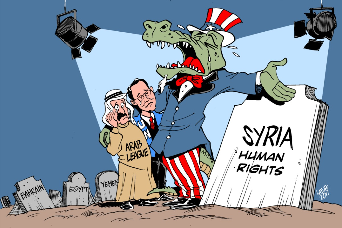 Crocodile tears for Syria