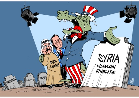 crocodile tears for syria wide