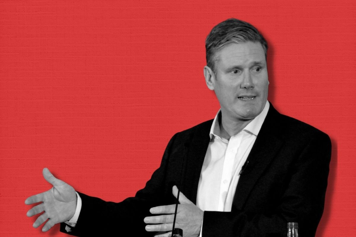 Starmer Red Background