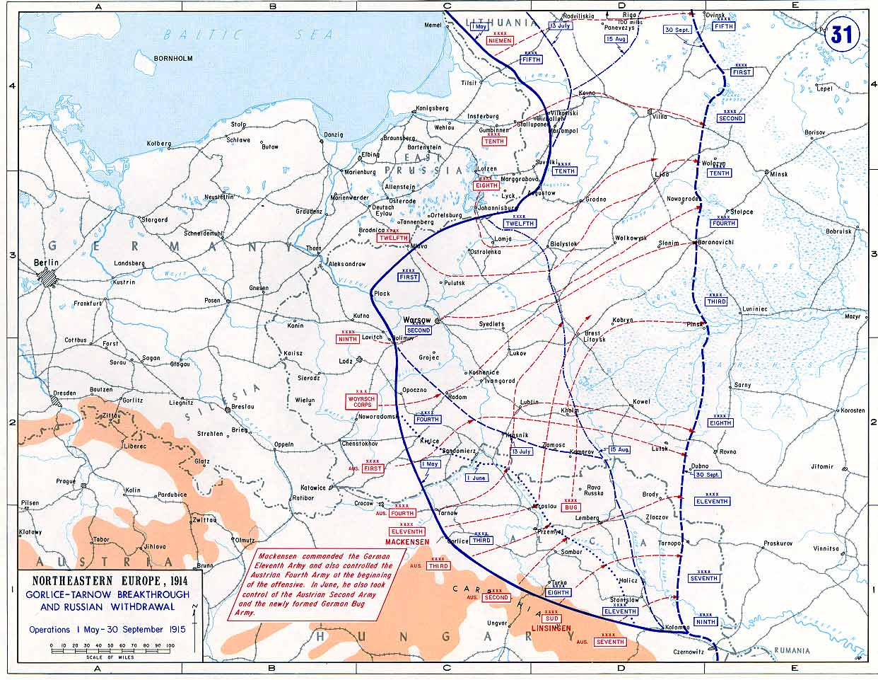 Eastern Front 1915 From May to October 1915 the Great Retreat
