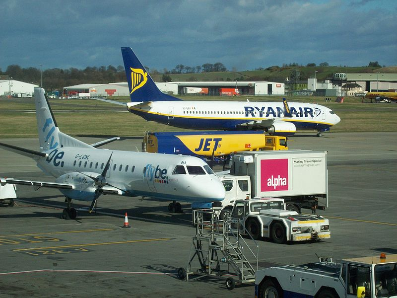 Flybe and Ryanair aircraft