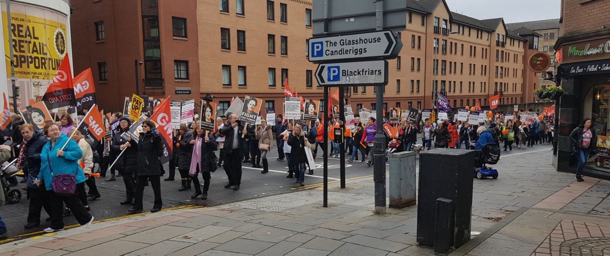 Glasgow council strike Oct 2018 3