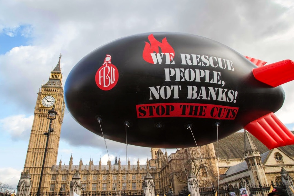 FBU rescue people not banks