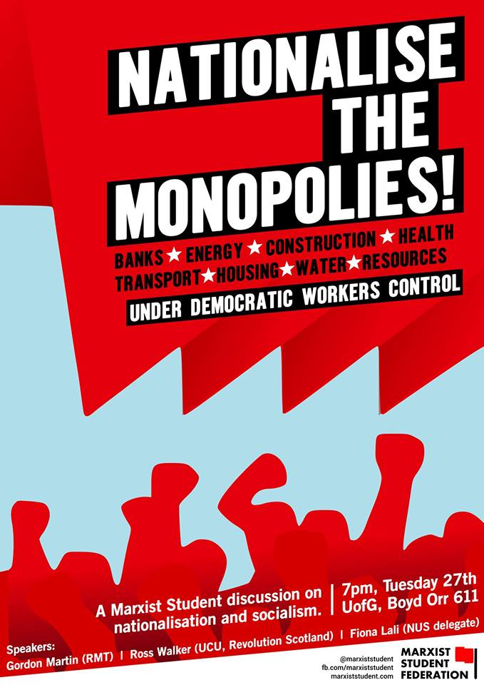 Nationalise the monopolies